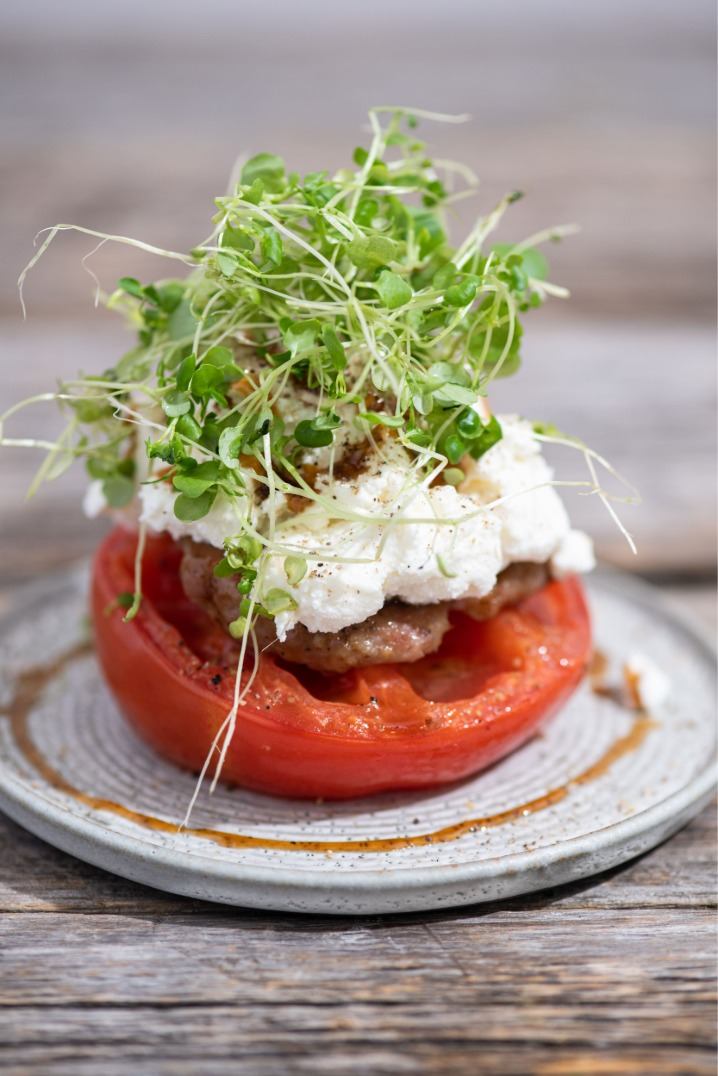 Bruncha Sausage and Ricotta Stuffed Tomatoes